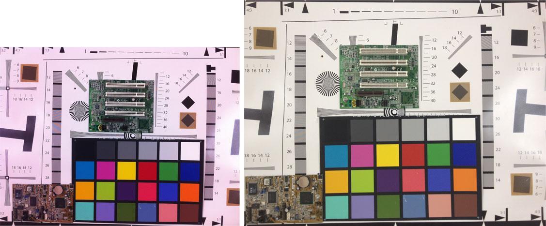 Bildet til venstre er tatt med iPhone 4, mens bildet til høyre er tatt med iPhone 4S. Størrelsesforskjellen skyldes at iPhone 4S har høyere oppløsning.