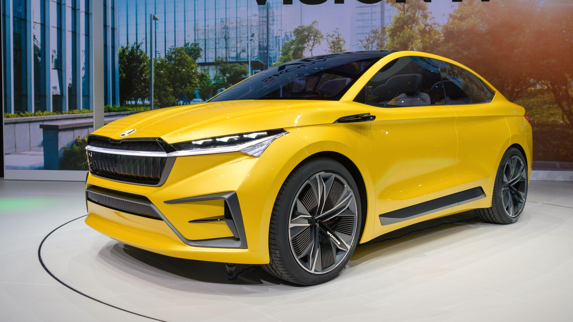 Slik så Vision iV ut i 2017. En SUV-variant kom først for salg, før coupe-utgaven av det som ble hetende Enyaq iV kommer nå.