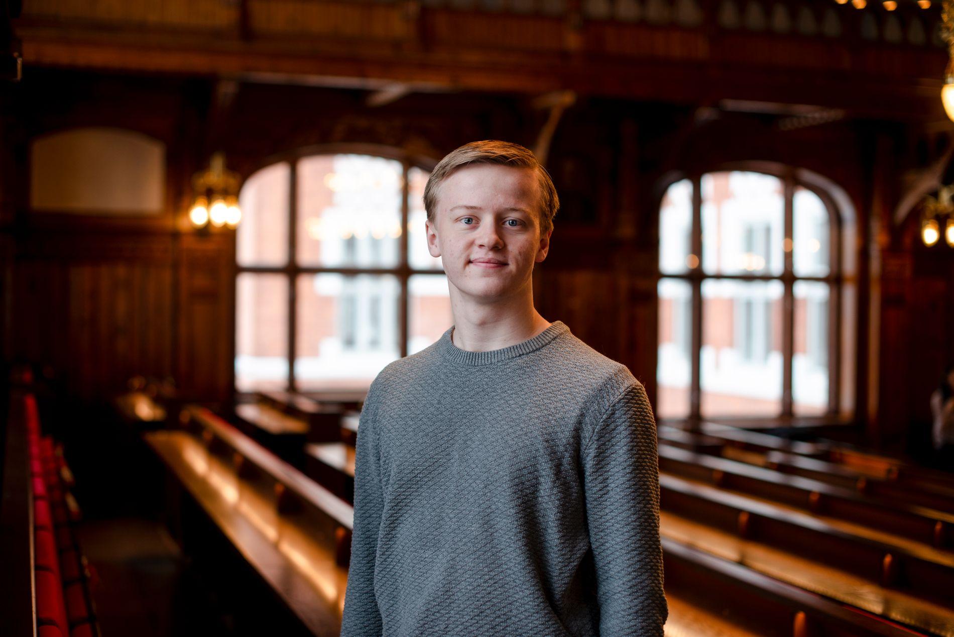 STORTRIVES: – NMBU har overgått alle mine forventninger, sier lektorstudent Eirik-Mathias Bjørnø Rummelhoff.