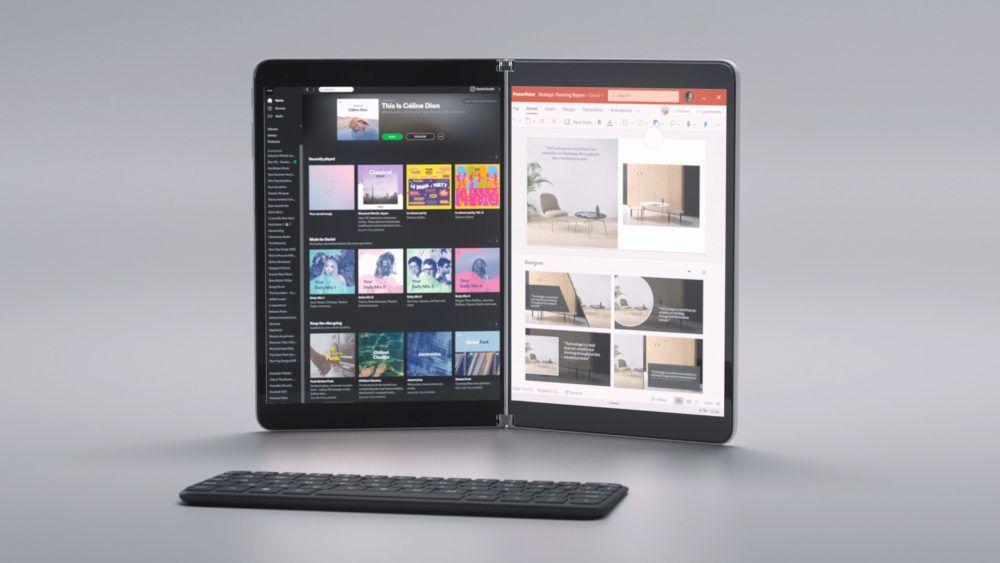 Surface Neo får to 9-tommers skjermer, som tilsvarer en 13-tommers skjerm i utbrettet tilstand.