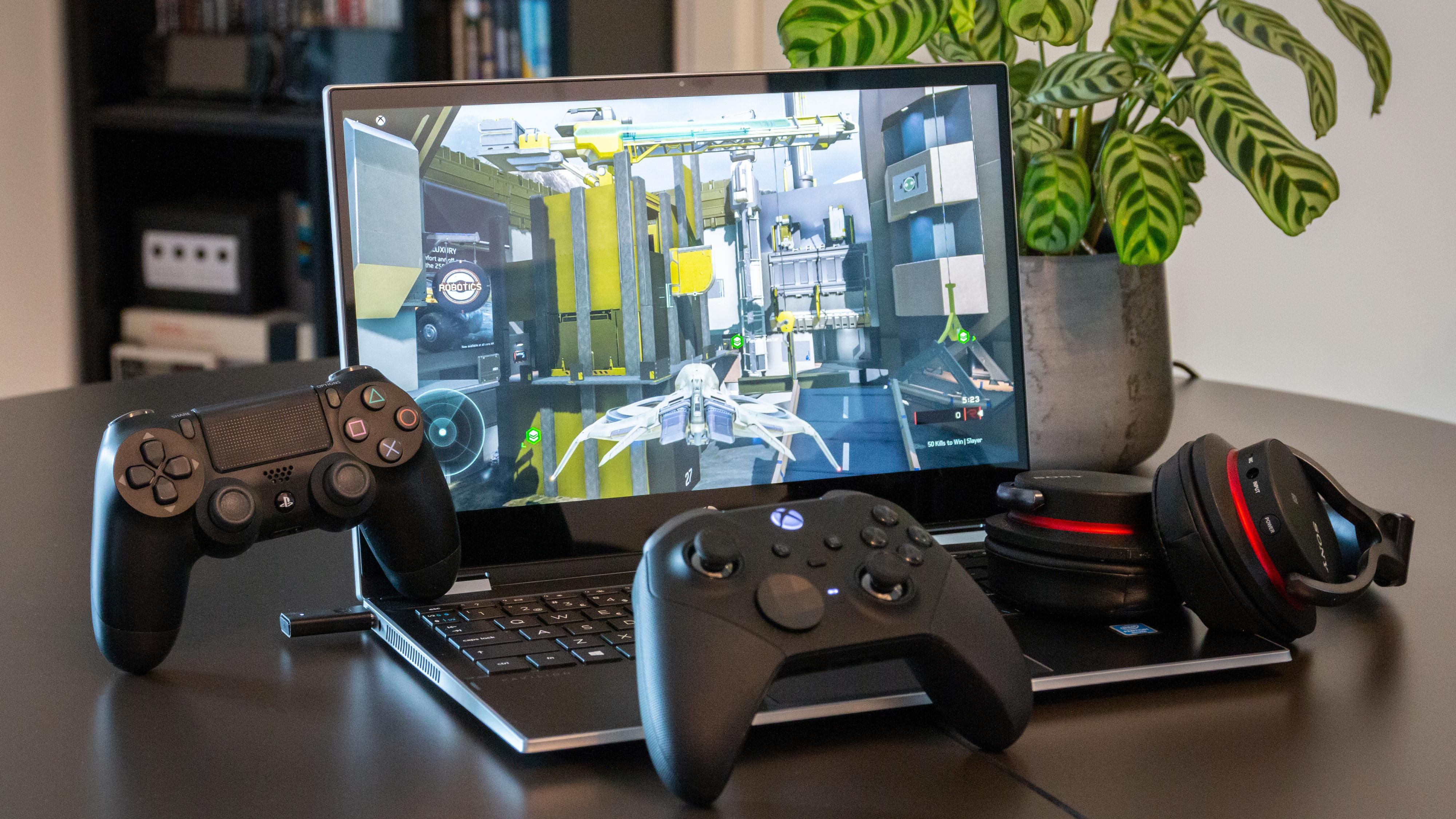 Med en spillstrømmetjeneste kan du for eksempel spille Xbox-spillet Halo 5 på en enkel Windows-bærbar.