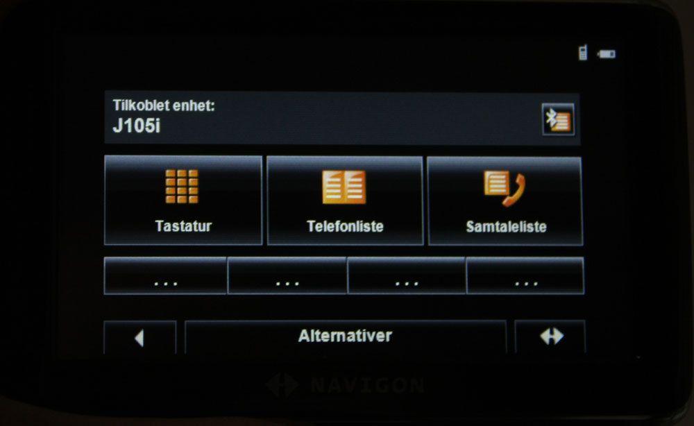 Bluetooth-funksjonen til 4530 Max.