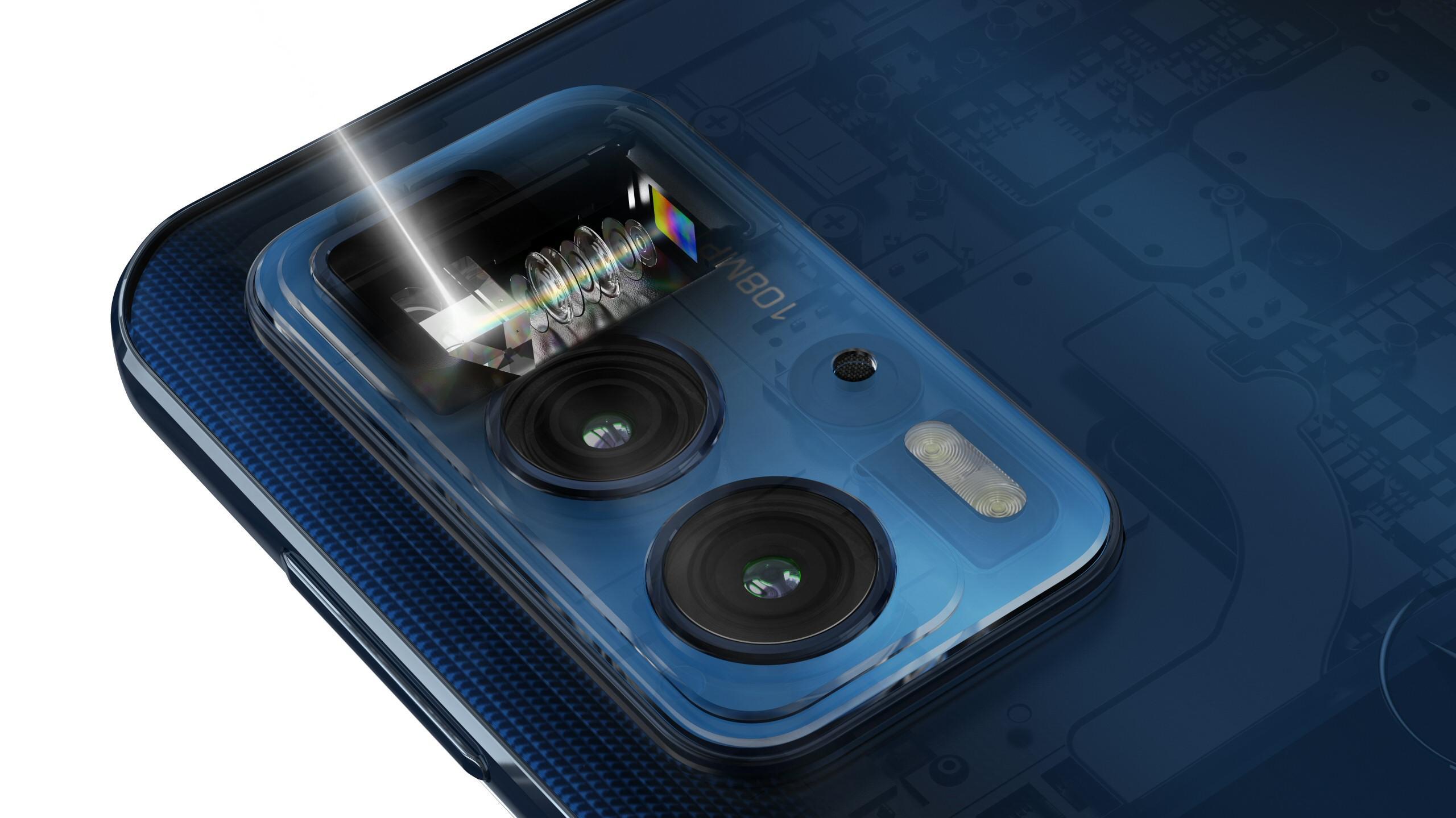 Motorola Edge 20 Pro skal ha selskapets første telefotolinse med periskopfunksjonalitet.