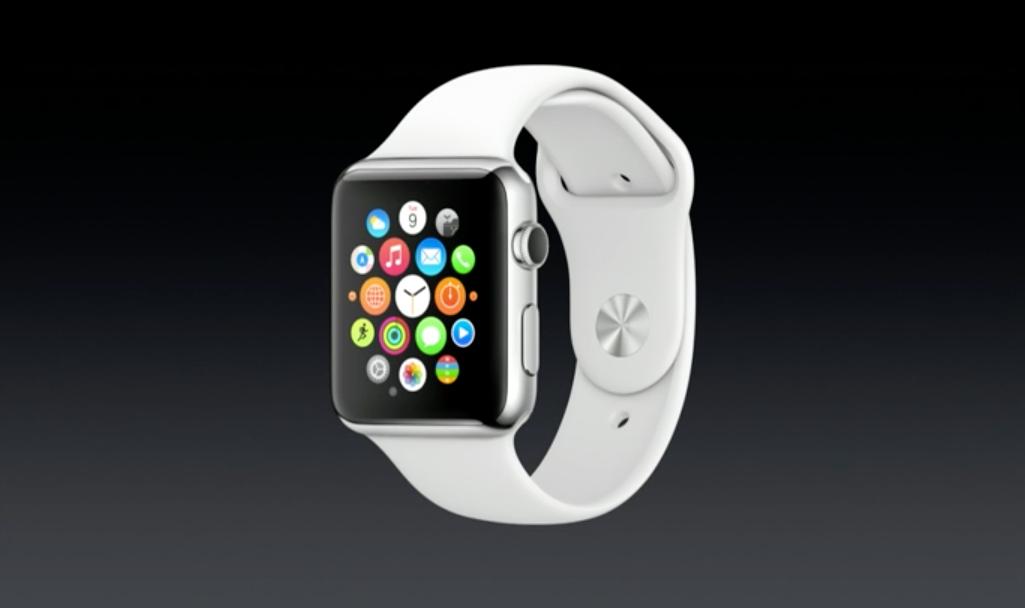 Slik ser hjemskjermen ut på Apples nye klokke.