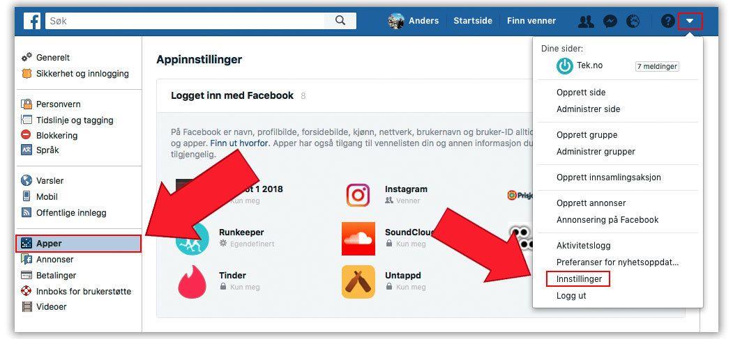 Alle disse appene er koblet sammen med Facebook-profilen. Med på lasset følger informasjon om deg, så slett de du uansett ikke bruker lenger.