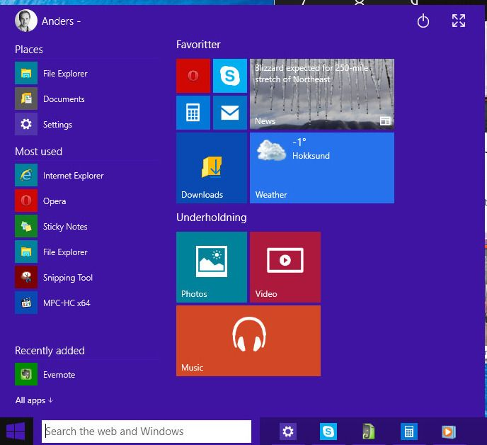 Windows 10 Technical Preview Sniktitt Tek.no