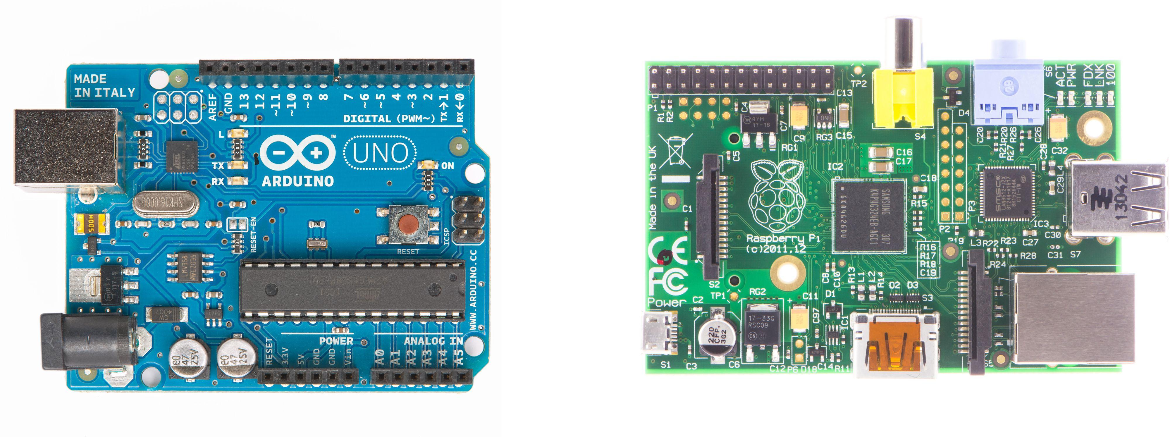 Arduino og Raspberry Pi.Foto: Shutterstock