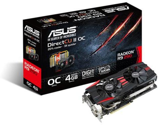 Asus Radeon R9 290 DirectCU II OC.Foto: Asus