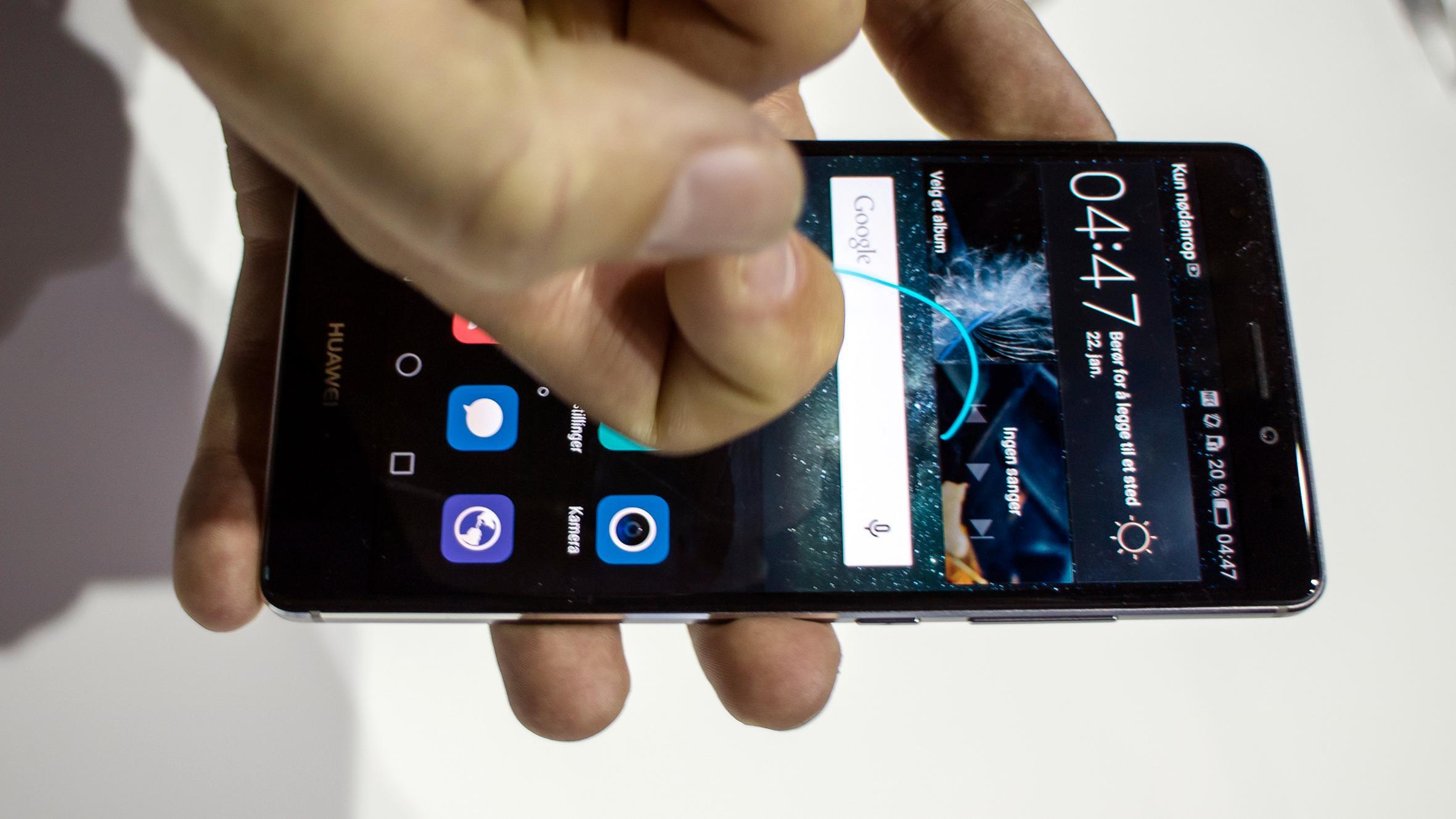I tillegg til å registrere at du bruker en knoke, kan skjermen kjenne hvor hardt du berører den.Foto: Odd Richard Valmot, Tek.no