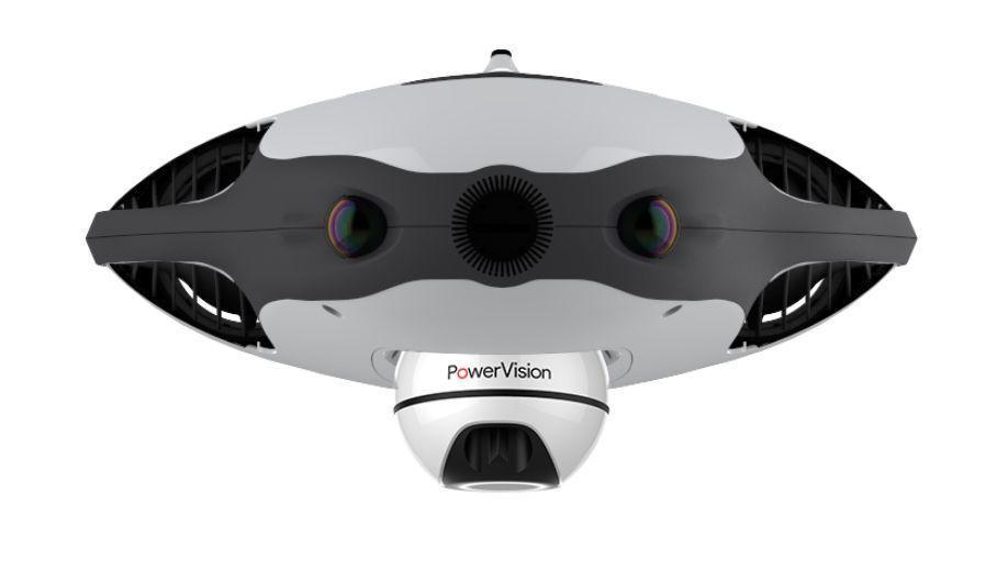 Den runde ekkolodd-modulen plasseres på undersiden av dronen og kan også brukes separat.