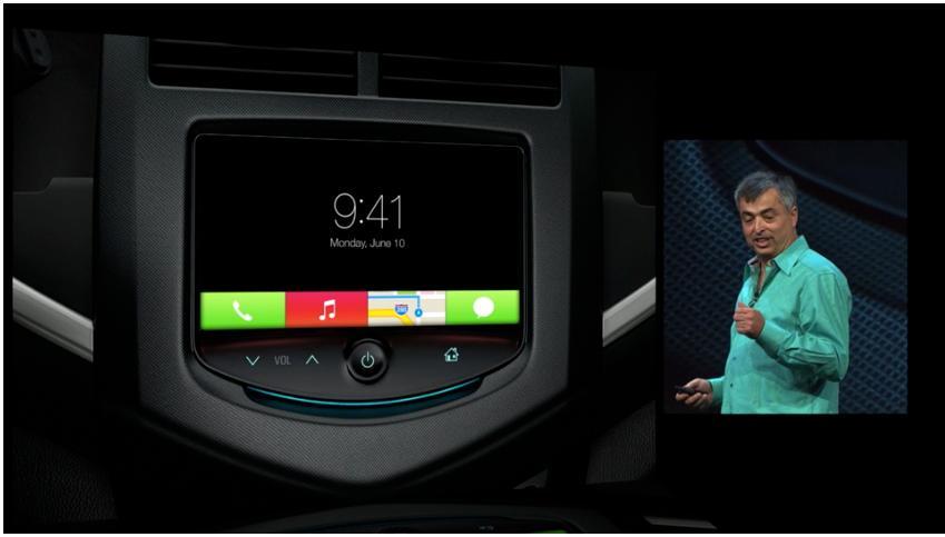 iOS 7 skal inn i bilen din, via iPhone.Foto: Apple