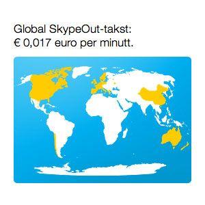 Voicelink lar deg ringe til store deler av verden for 13 øre / minutt.