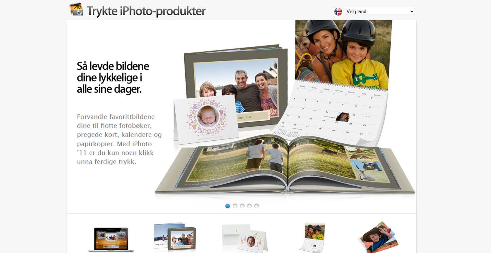 iPhoto er en tjeneste som blant annet lar deg bestille trykksaker av bildene dine - om de bare er sømmelige nok.
