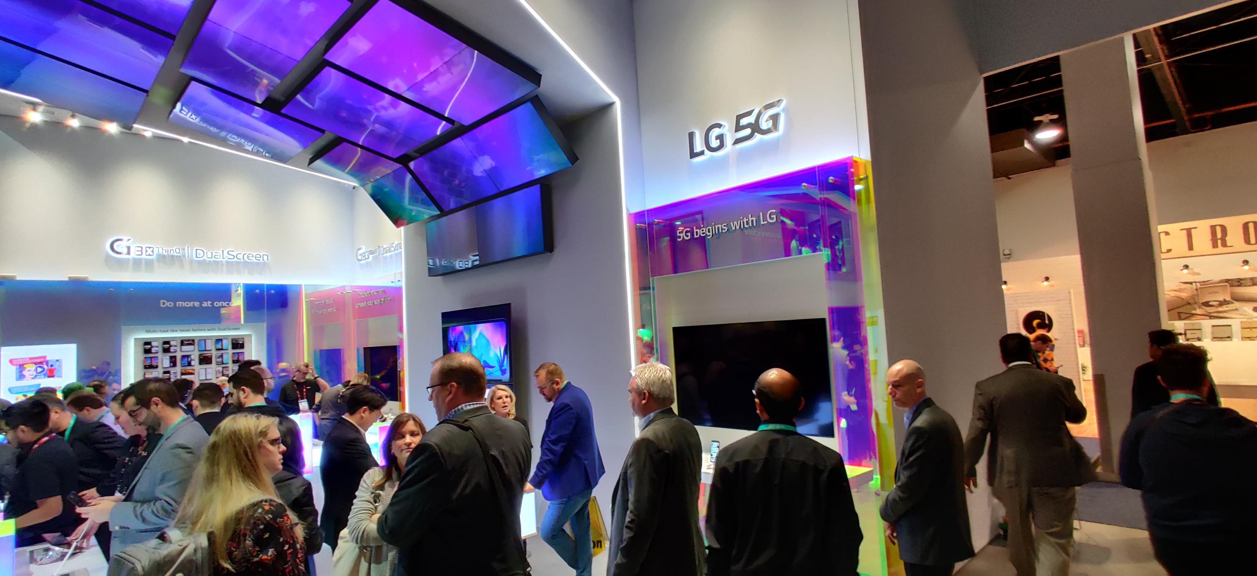 Hos LG, som hos nesten aller andre produsenter, var 5G en av de store temaene.