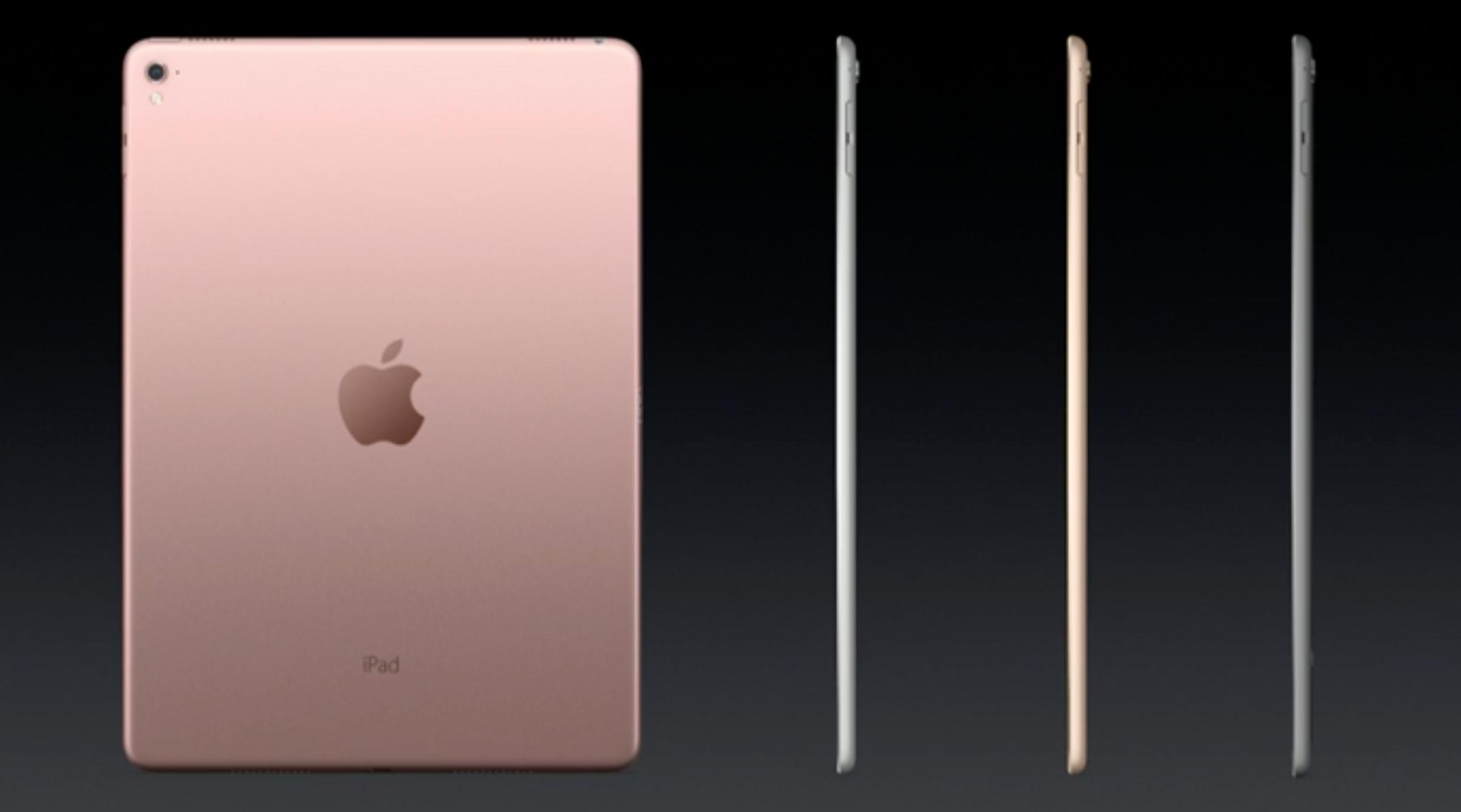 iPad kommer nå for første gang i «Rose Gold»-farge.