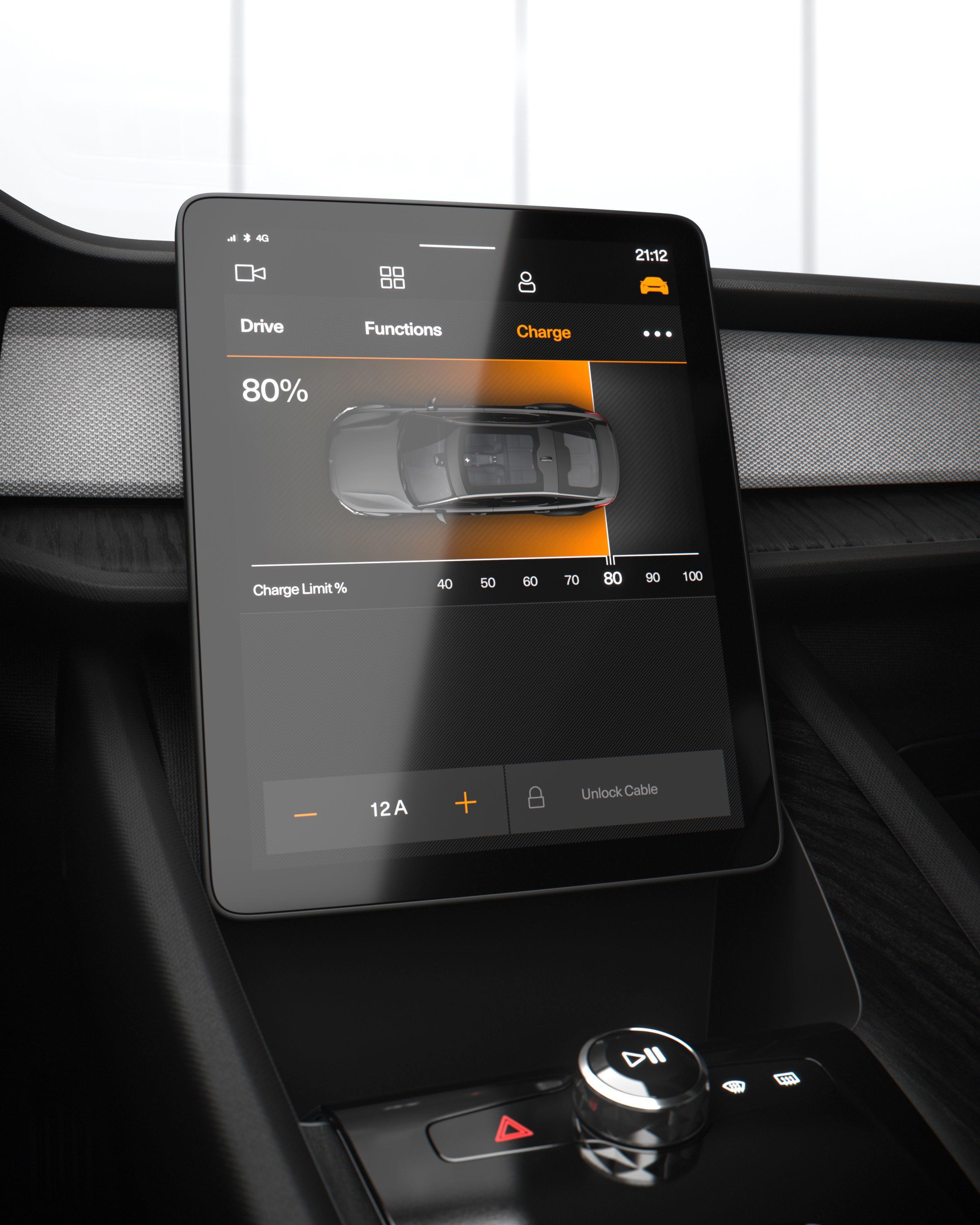 En 11-tommers nærmest kvadratisk skjerm i midtkonsollen tar seg av de fleste interaksjoner. Skjermen vil kjøre en Android-variant.