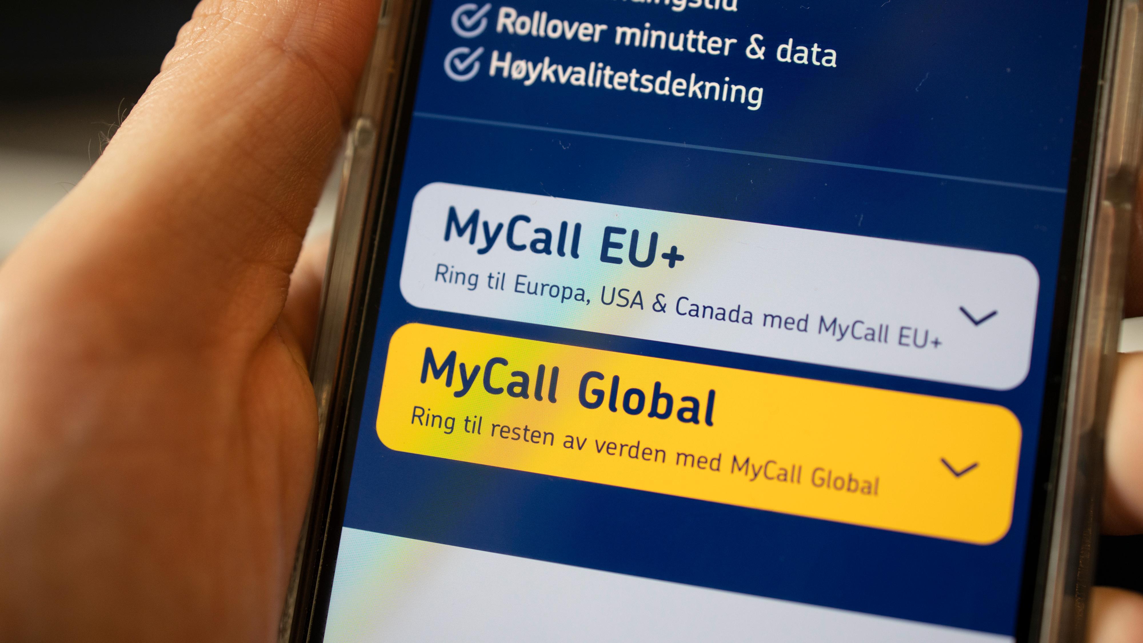 Mycall er en operatør som har spesialisert seg på dem som kan ha behov for å ringe ut av Norge.
