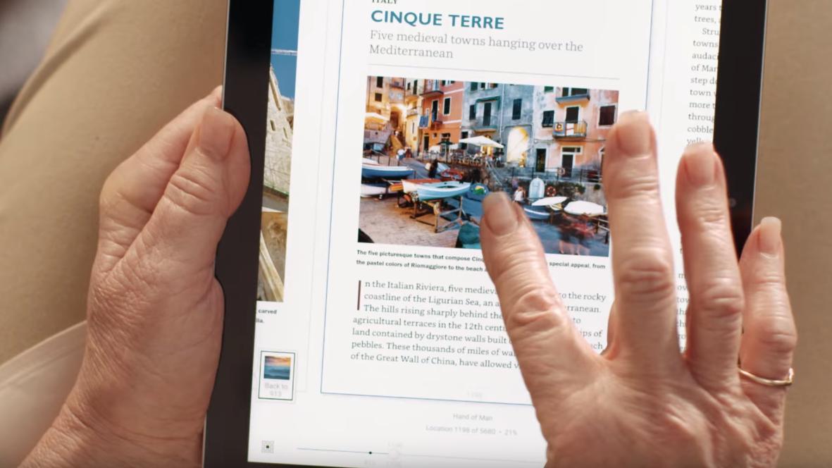 En egen «stikke fingeren i boken»-funksjon skal gjøre ebøker lettere å bruke