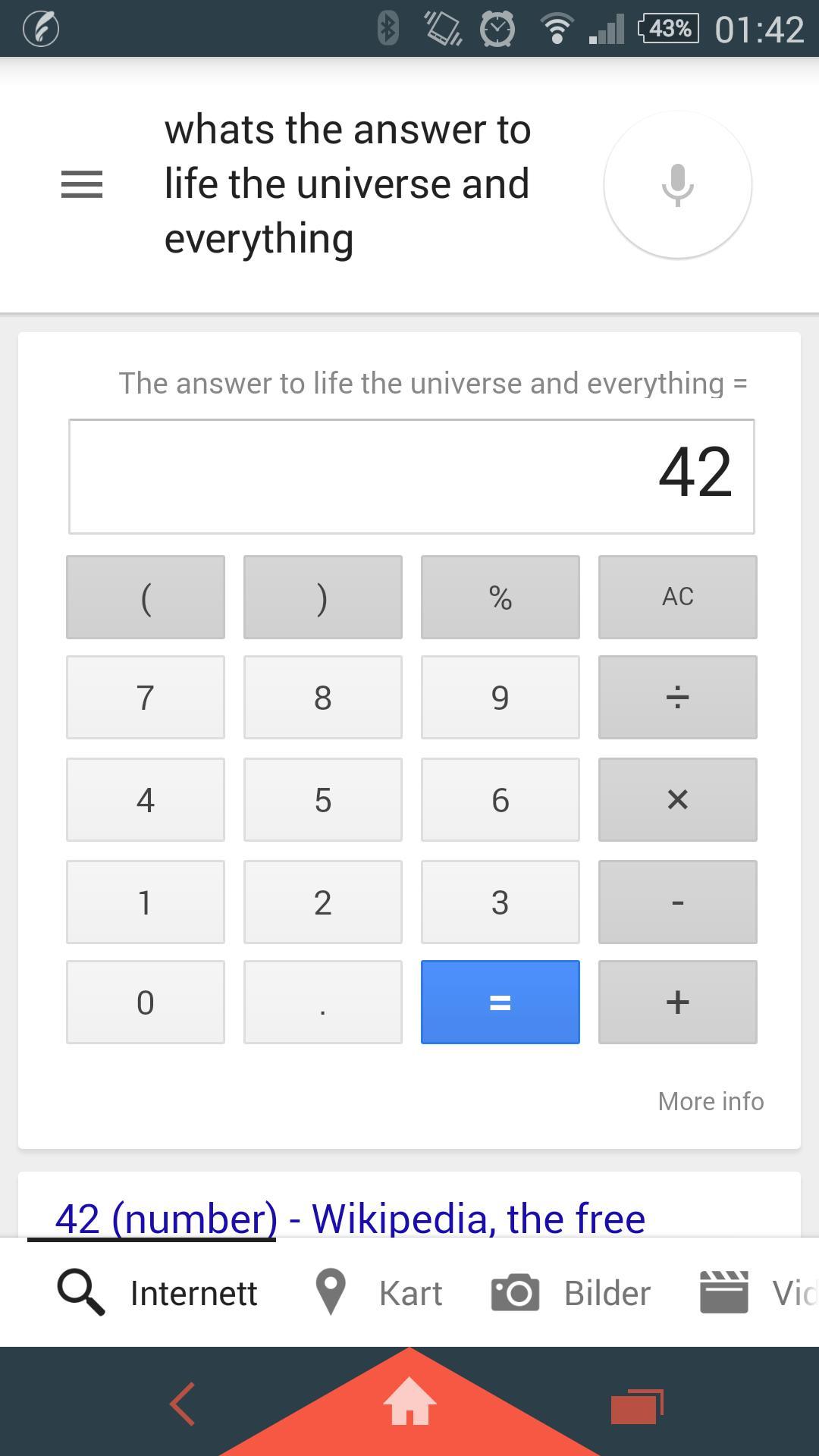 Google Now vet svaret på alt. Sånn omtrent. Foto: Skjermdump