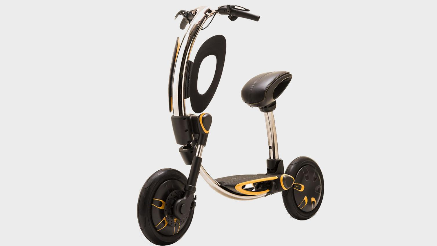Dette er en elektrisk scooter du kan folde sammen