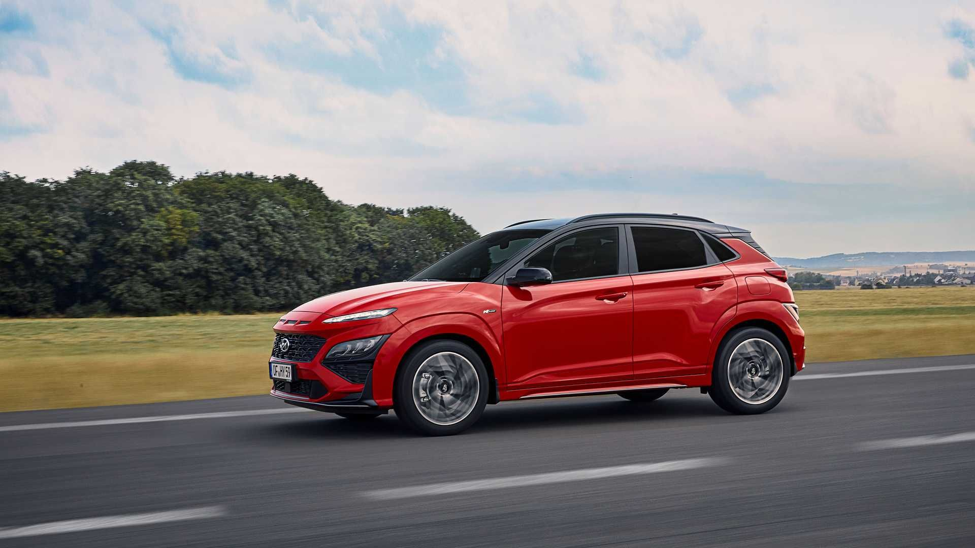 Nye Hyundai Kona får en ansiktsløftning. Dette er den litt sintere N Line-utgaven.