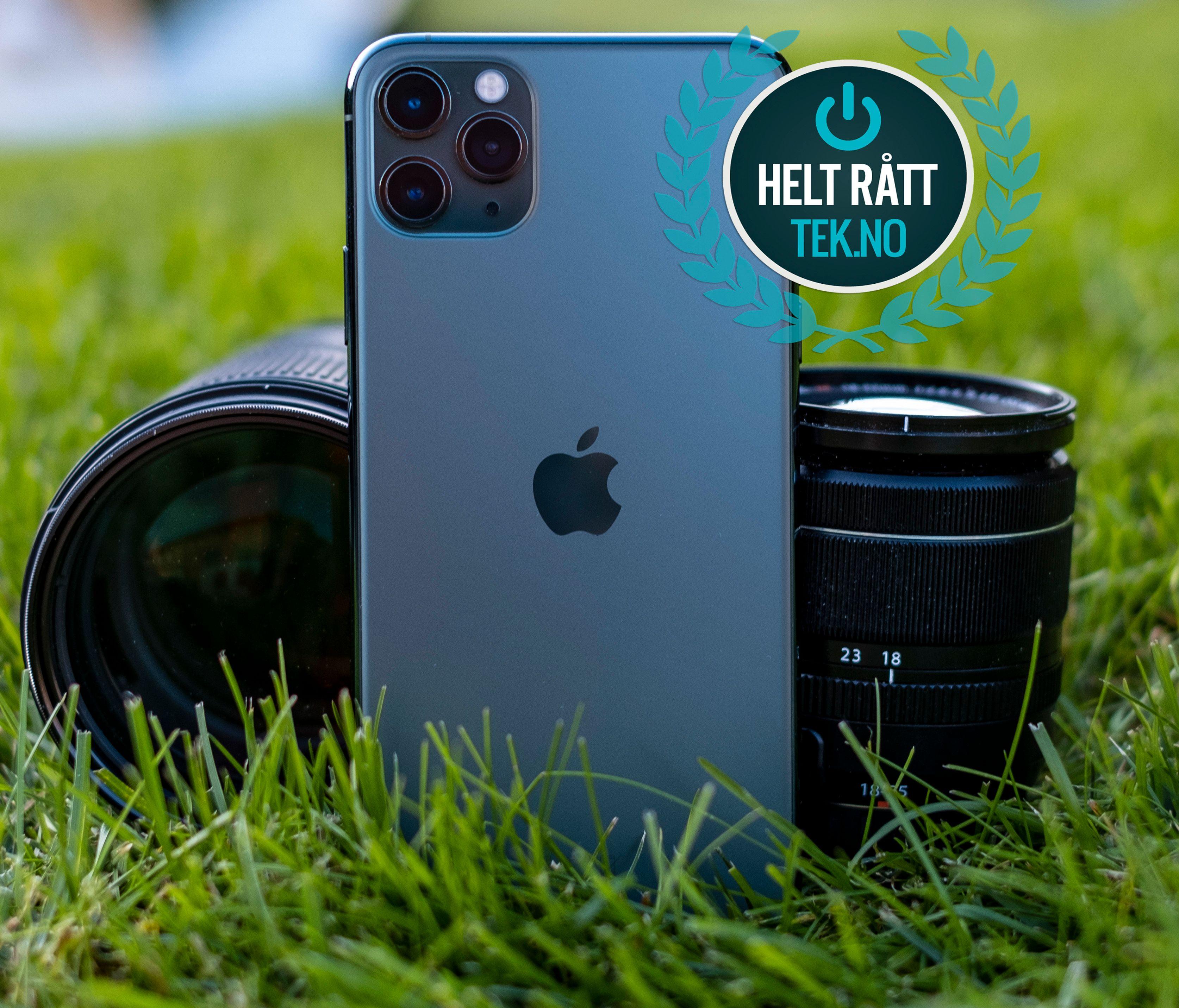 Ps! Fordi prisen på iPhone 11 Pro-modellene er så høy tildeler vi «helt rått»-utmerkelse fremfor vårt vanlige «anbefalt»-stempel. Her betaler du svært mye for «stjerna på panseret», men stort bedre enn iPhone 11 Pro blir det likevel ikke.