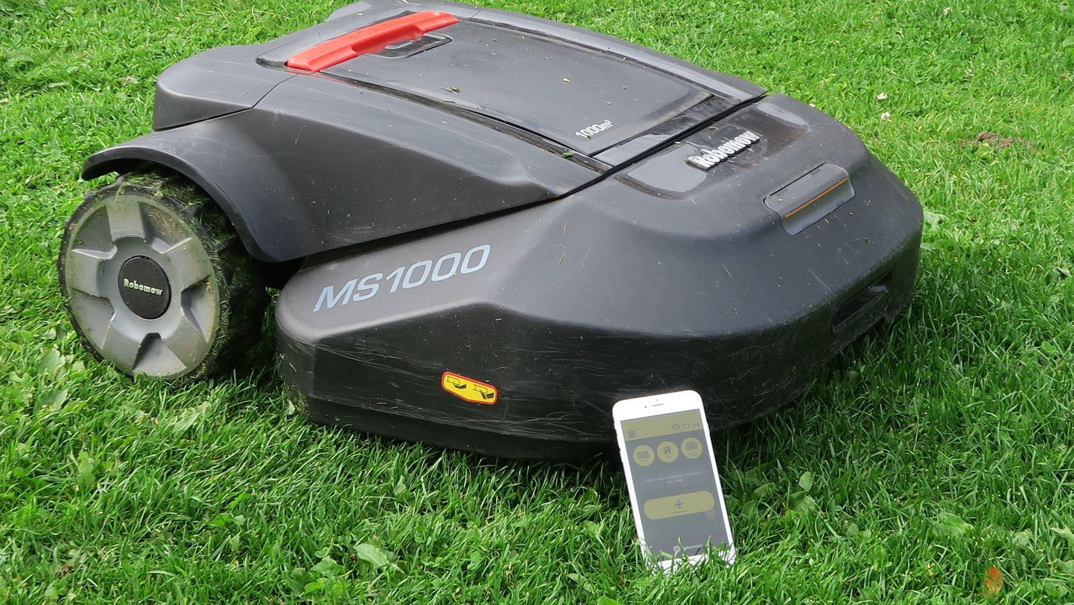 Mange roboter kan konfigureres via en app på mobilen.