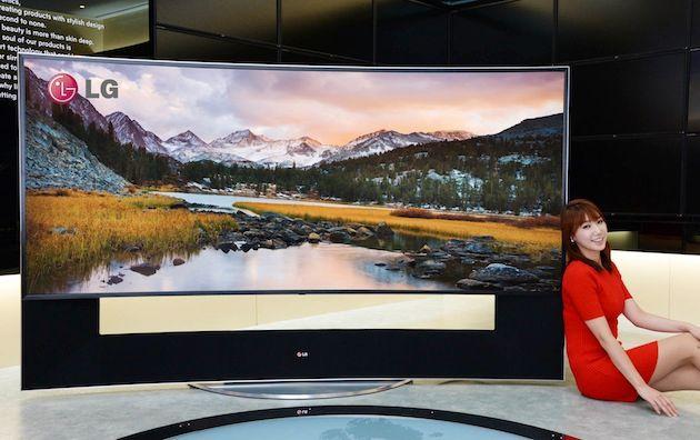 Jo større TV, jo bedre syns vi buede TV-er er.Foto: LG