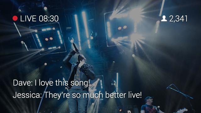 Last opp live video når det skulle være og diskuter med venner med appen Livestream.