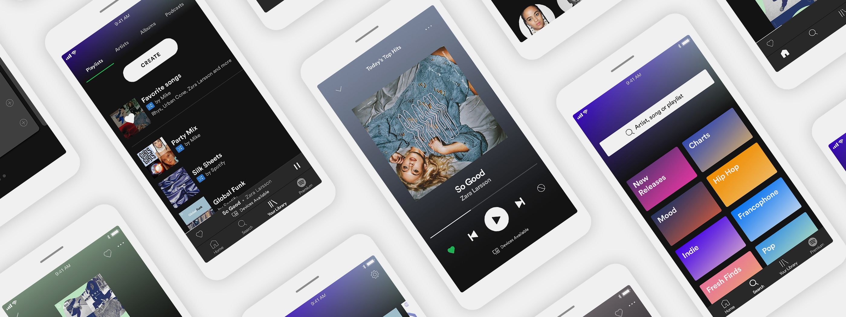 Skjermbildet til høyre vil være hva som møter deg på startskjermen til gratis-Spotify fremover.