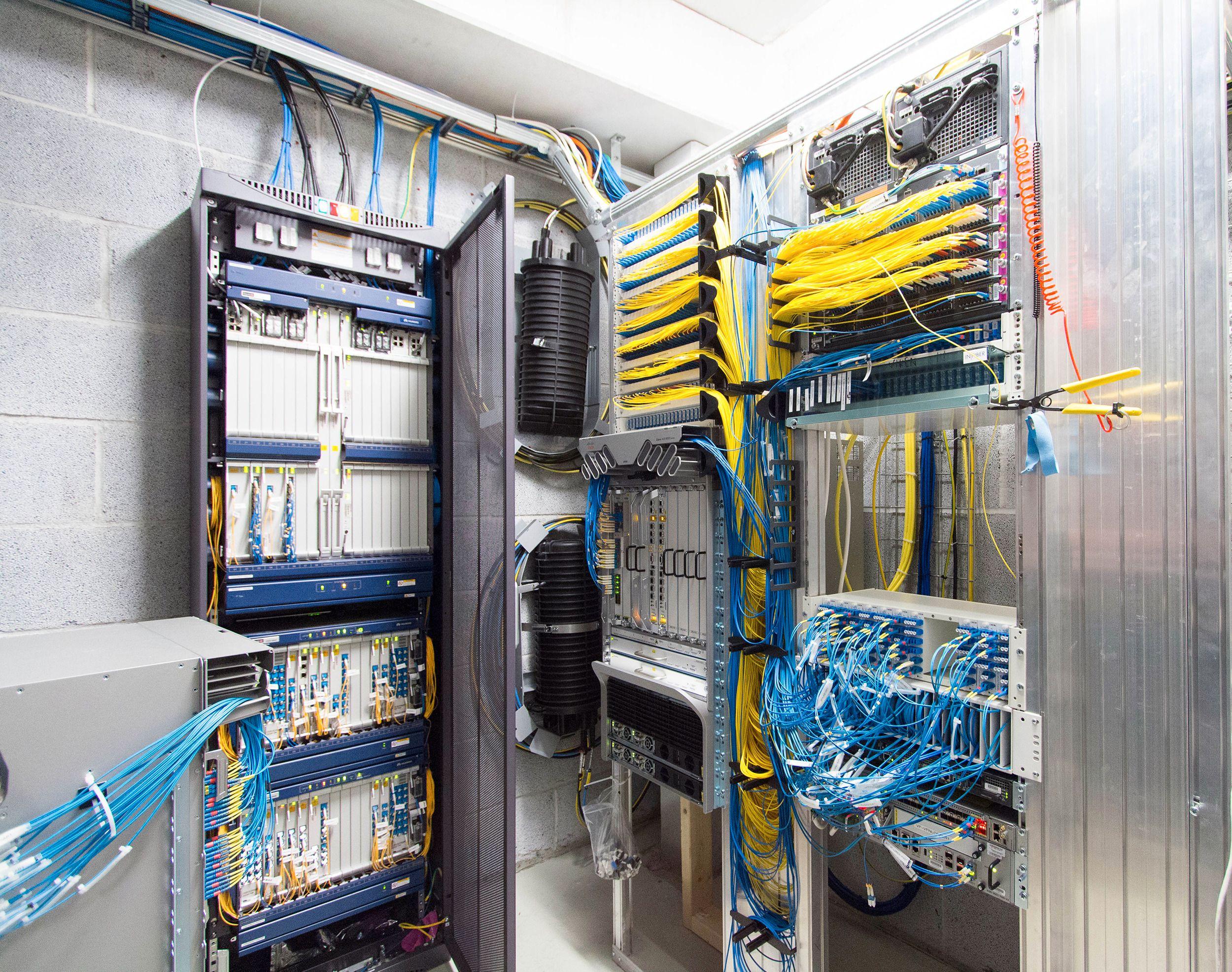 Fra ett av Viken Fibers noderom i Oslo. Foto: Vegar Jansen, Tek.no