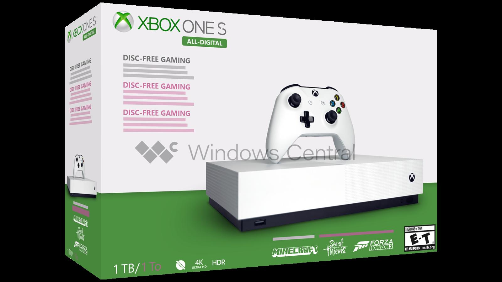 Journalistene som skal ha sett boksen til Xbox One S «All Digital Edition» har laget denne fremstillingen av den.