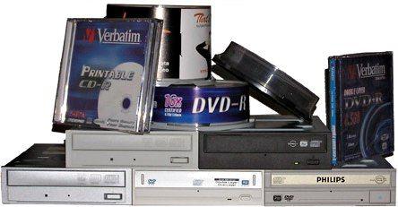 Fem DVD-brennere
