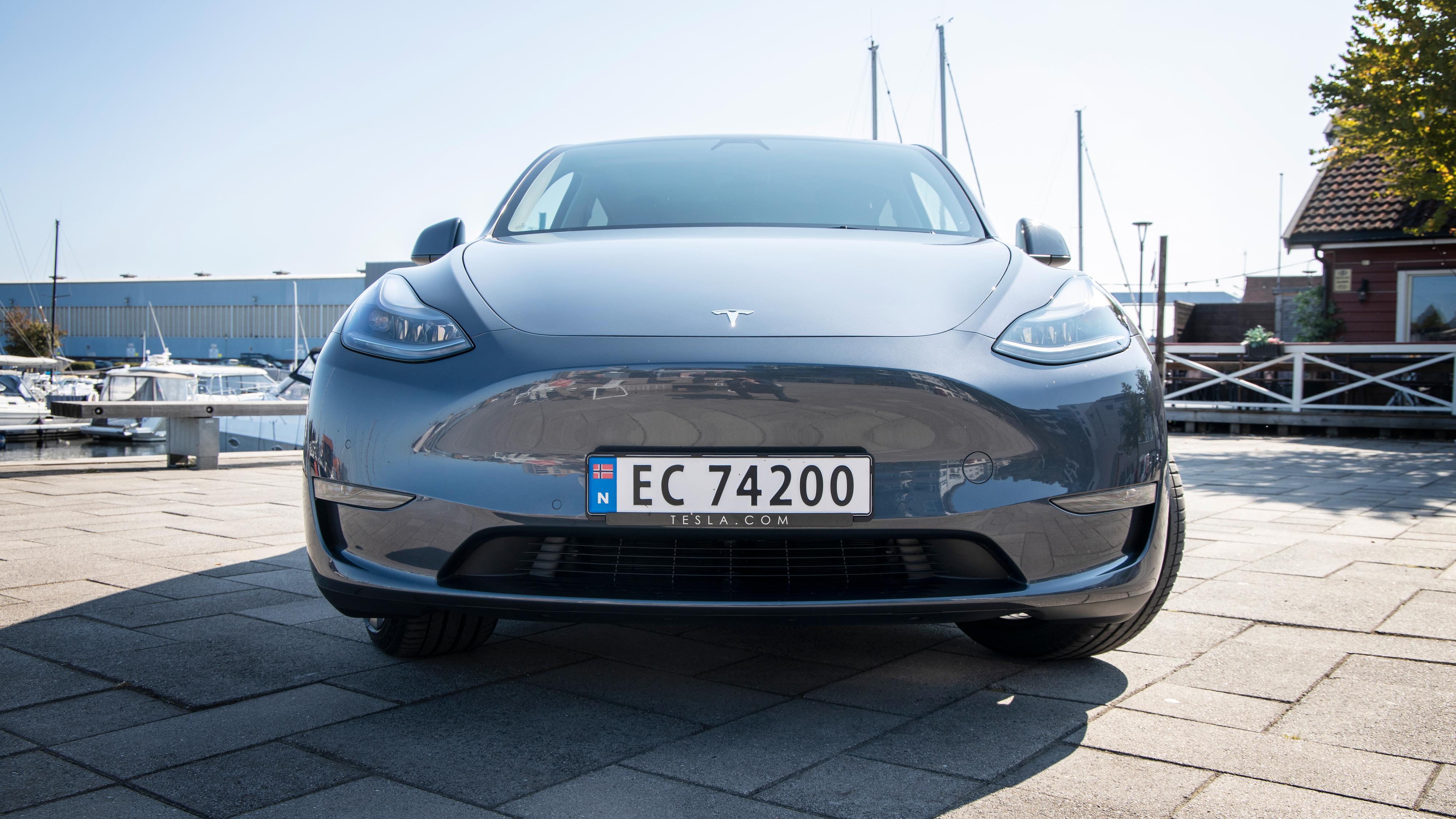 Både Model Y (bildet) og Model 3 hadde voldsomme registreringstall i september.