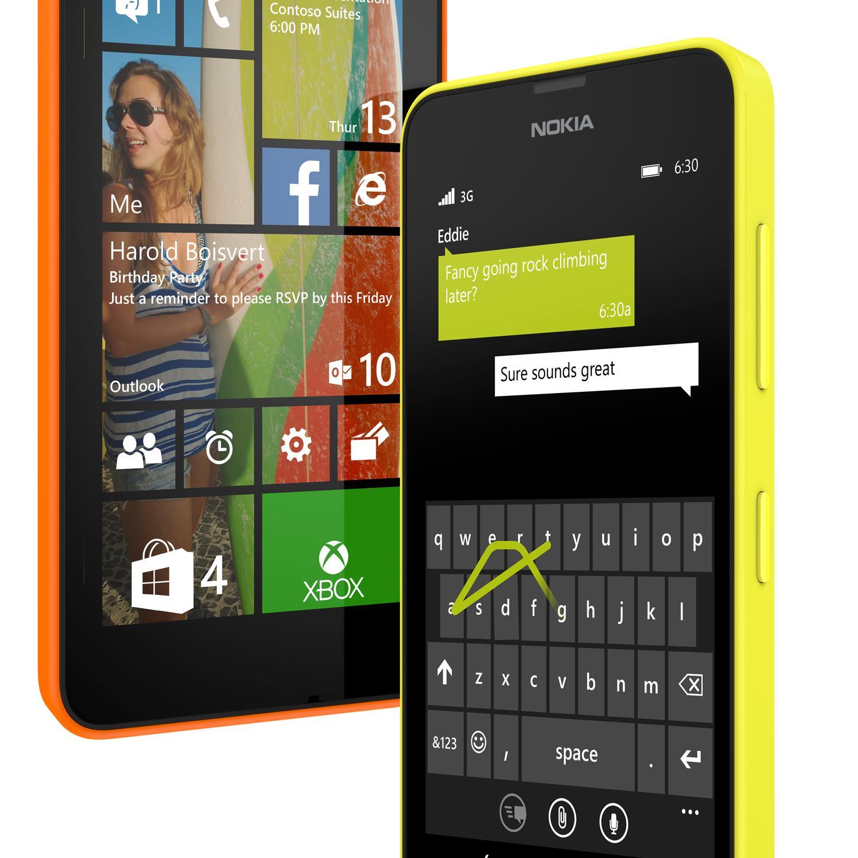 Nokia Lumia 630 er den enkleste av billigmodellene.Foto: Nokia