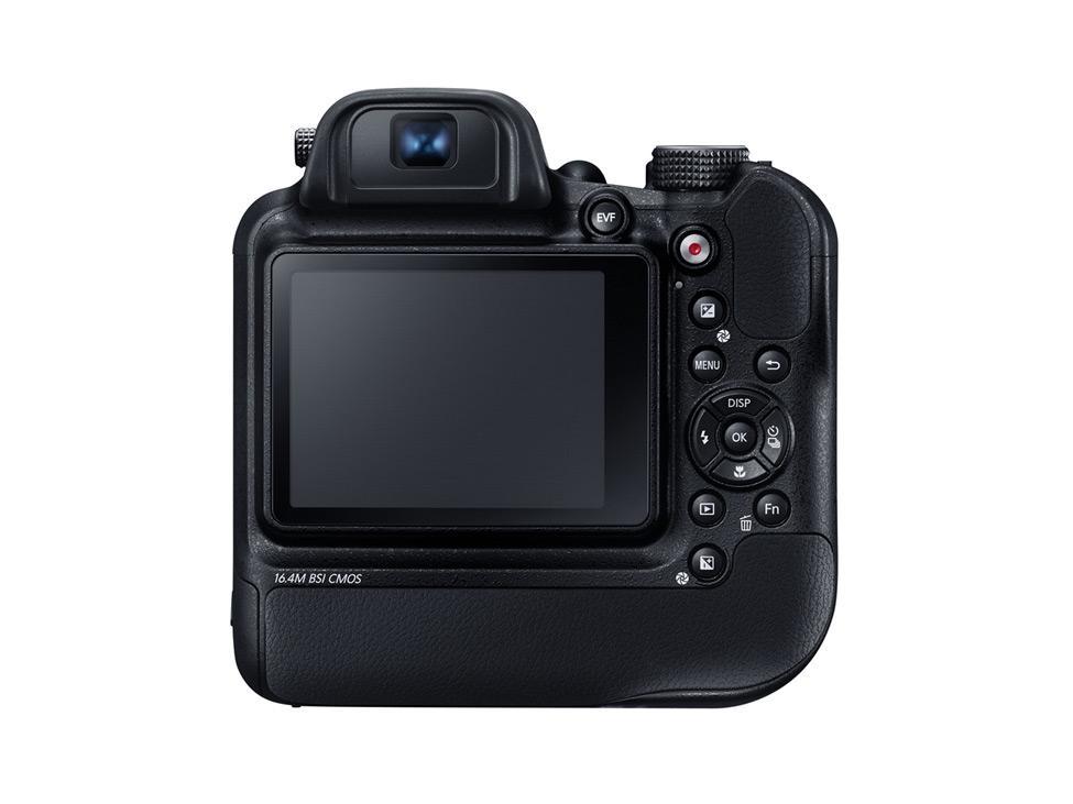 Skjermen er ikke utvippbar på Samsung WB2200F, men den har mye grep.Foto: Samsung