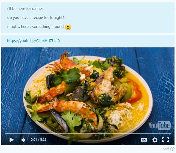 Den nye oppdateringen gjør det også mulig å kjøre YouTube-videoer direkte i Skype.