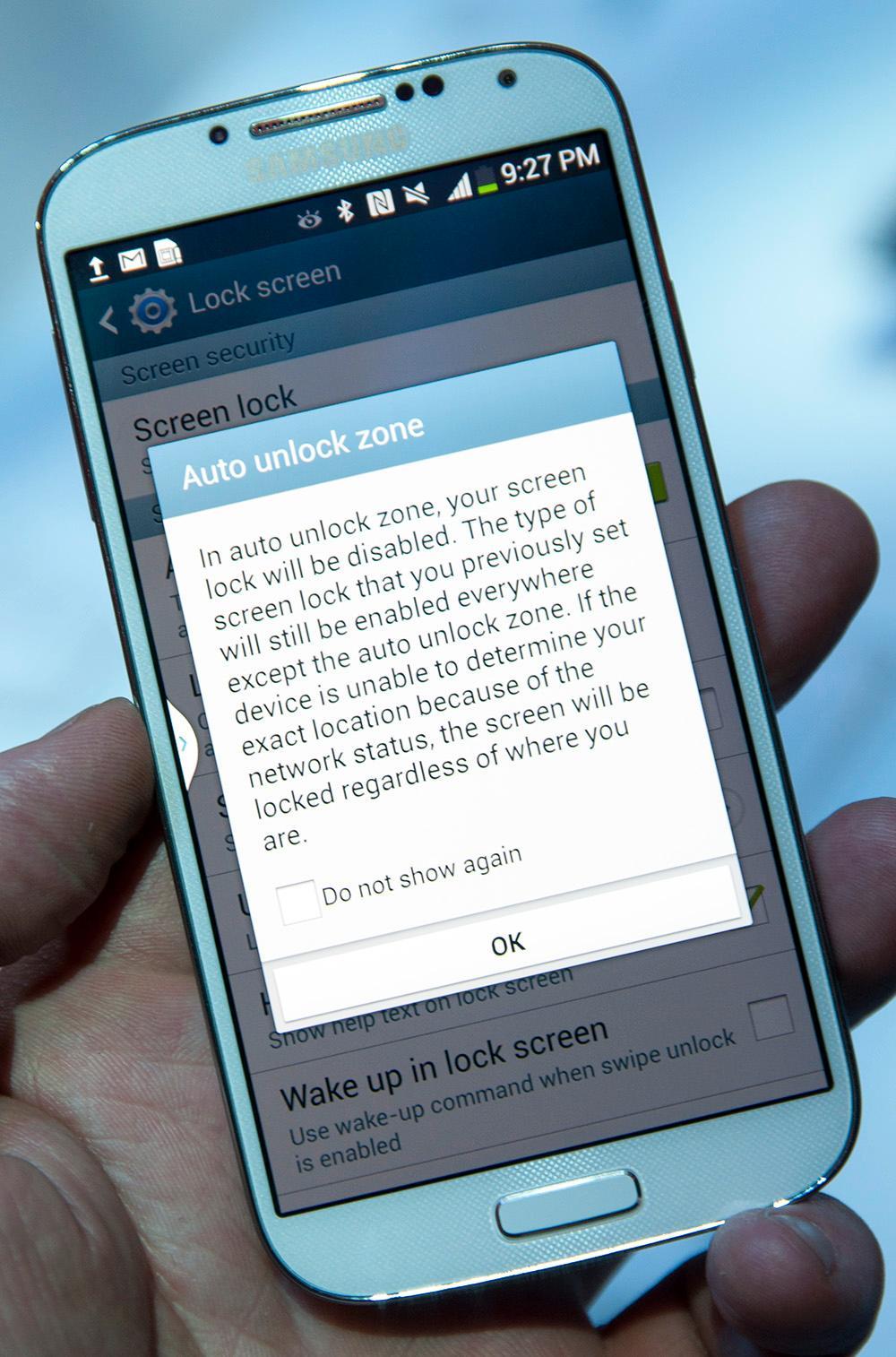 Hvis telefonen vet hvor den er kan den låse seg opp automatisk.Foto: Finn Jarle Kvalheim, Amobil.no