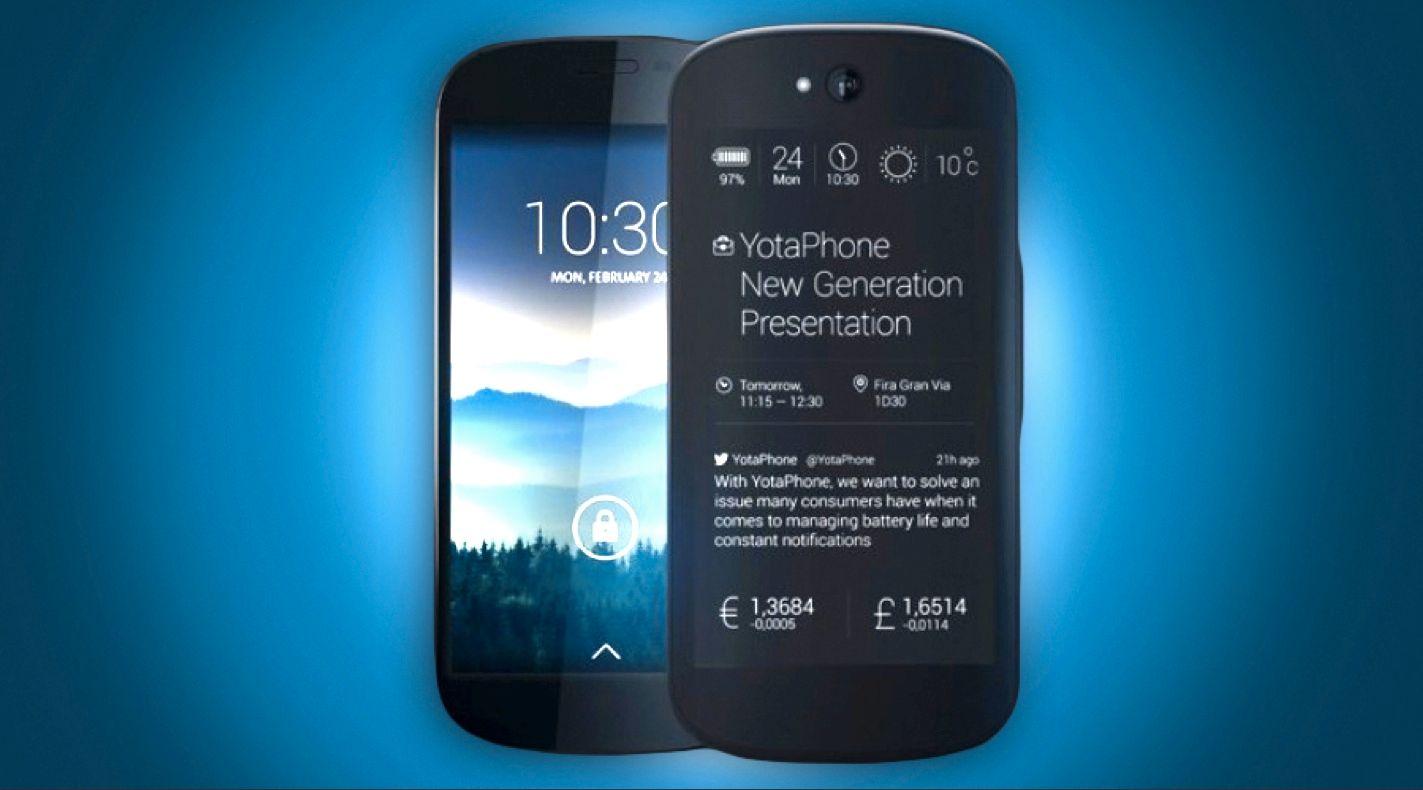 Slik ser den nye telefonen ut. Den har fått et mye rundere design enn sin forgjenger.Foto: YotaPhone