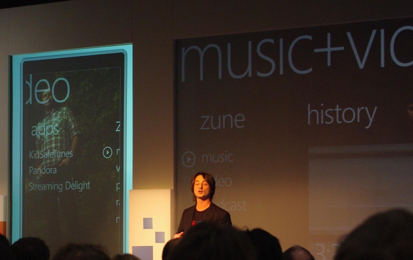 Medieopplevelsen i Windows Phone 7 blir den samme som i Zune HD.