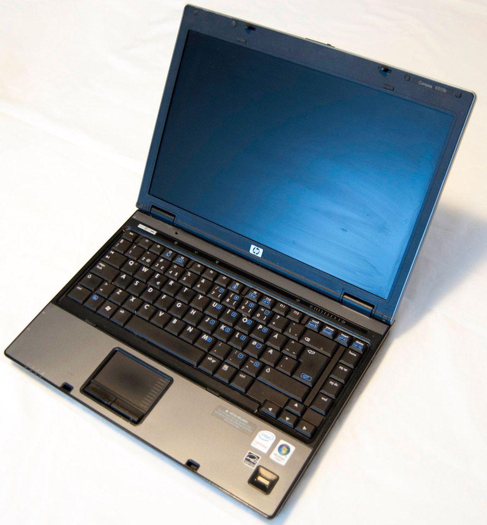 HP Compaq 6510b var en racer i sin tid, men ikke stort å skryte av i dag.
