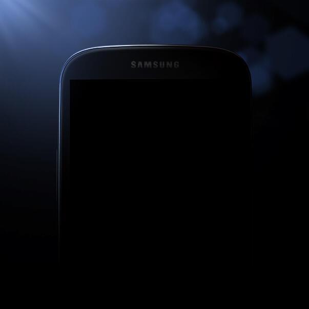 Samsung har selv publisert dette bildet, uten å si noe om hva det faktisk viser. Men det ville overraske oss mye om det ikke var en Samsung Galaxy S IV. Foto: Samsung