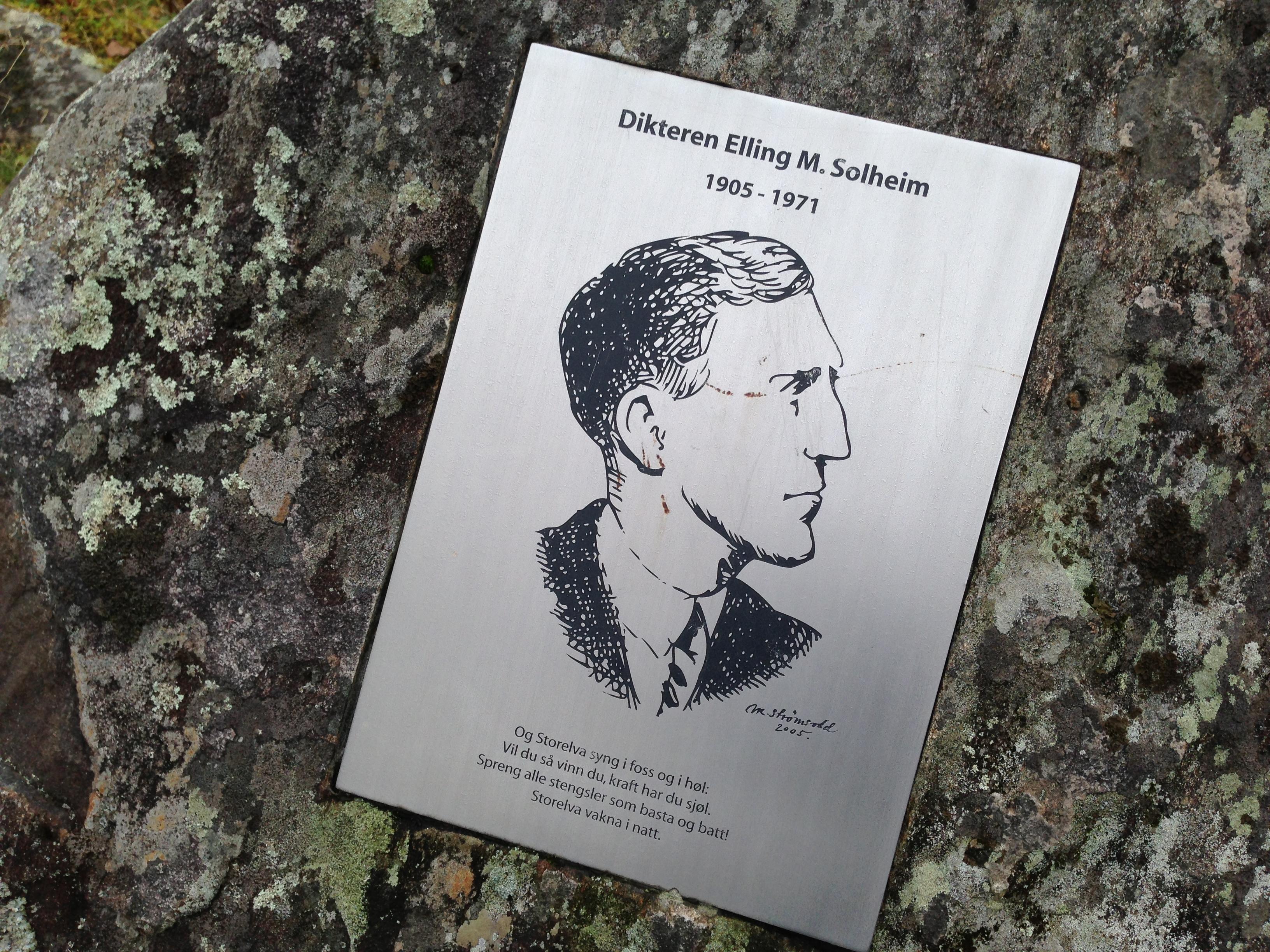Minneplakket for Elling M. Solheim.