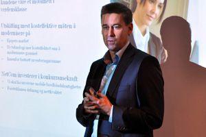 Netcom satser hardt på LTE. Her representert ved direktør August Baumann under den siste pressekonferansen vedrørende storsatsingen.