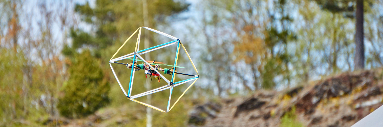 Ikoseader-dronen klarte seg bemerkelsesverdig godt i lufta.