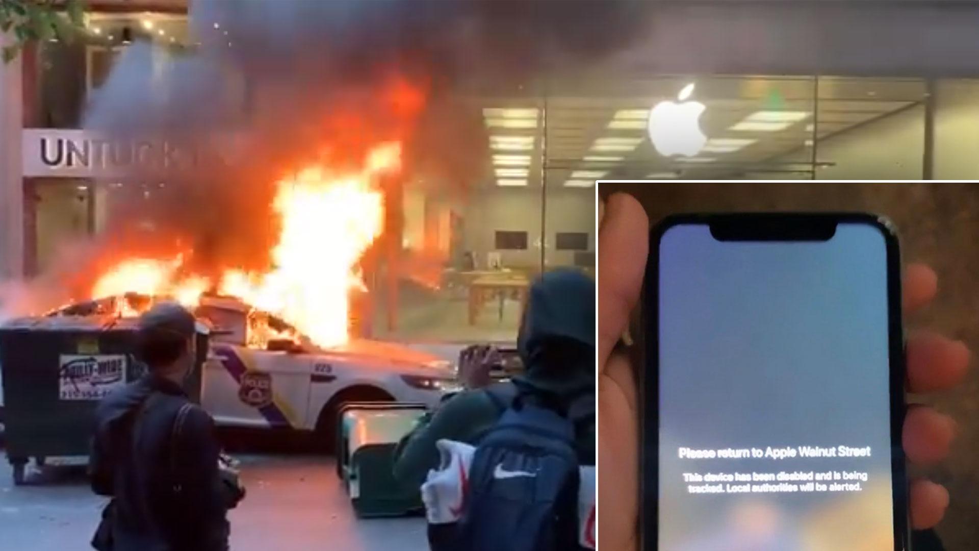Plyndrede Apple-telefoner sporer tyvene