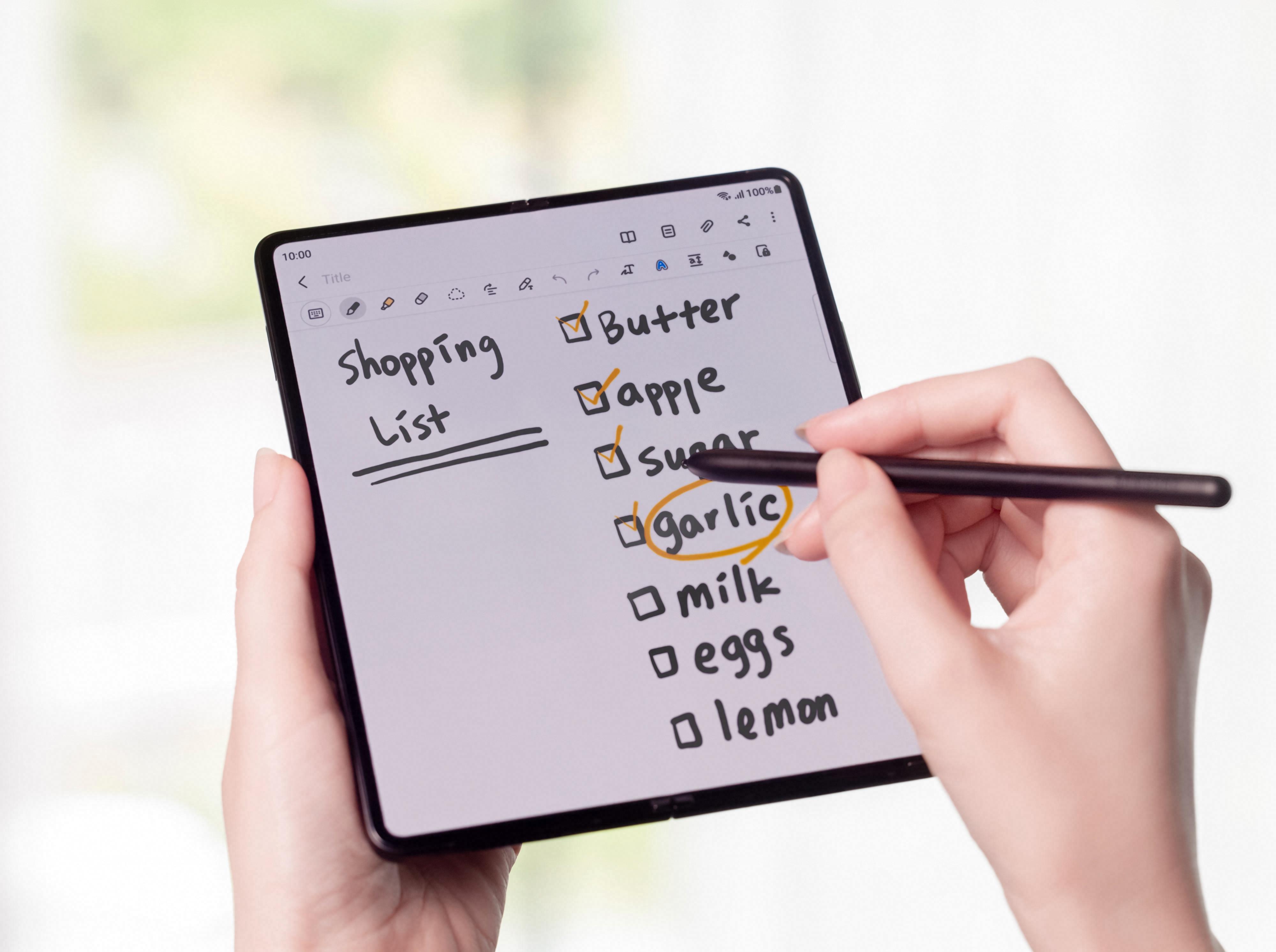 Galaxy Z Fold 3 er den første brettemobilen med støtte for digital penn.