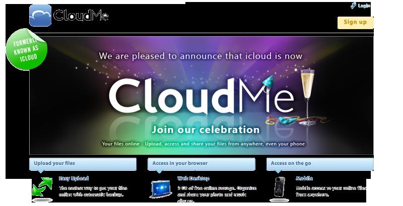 Svenske Xcerion har byttet navn fra icloud til CloudMe