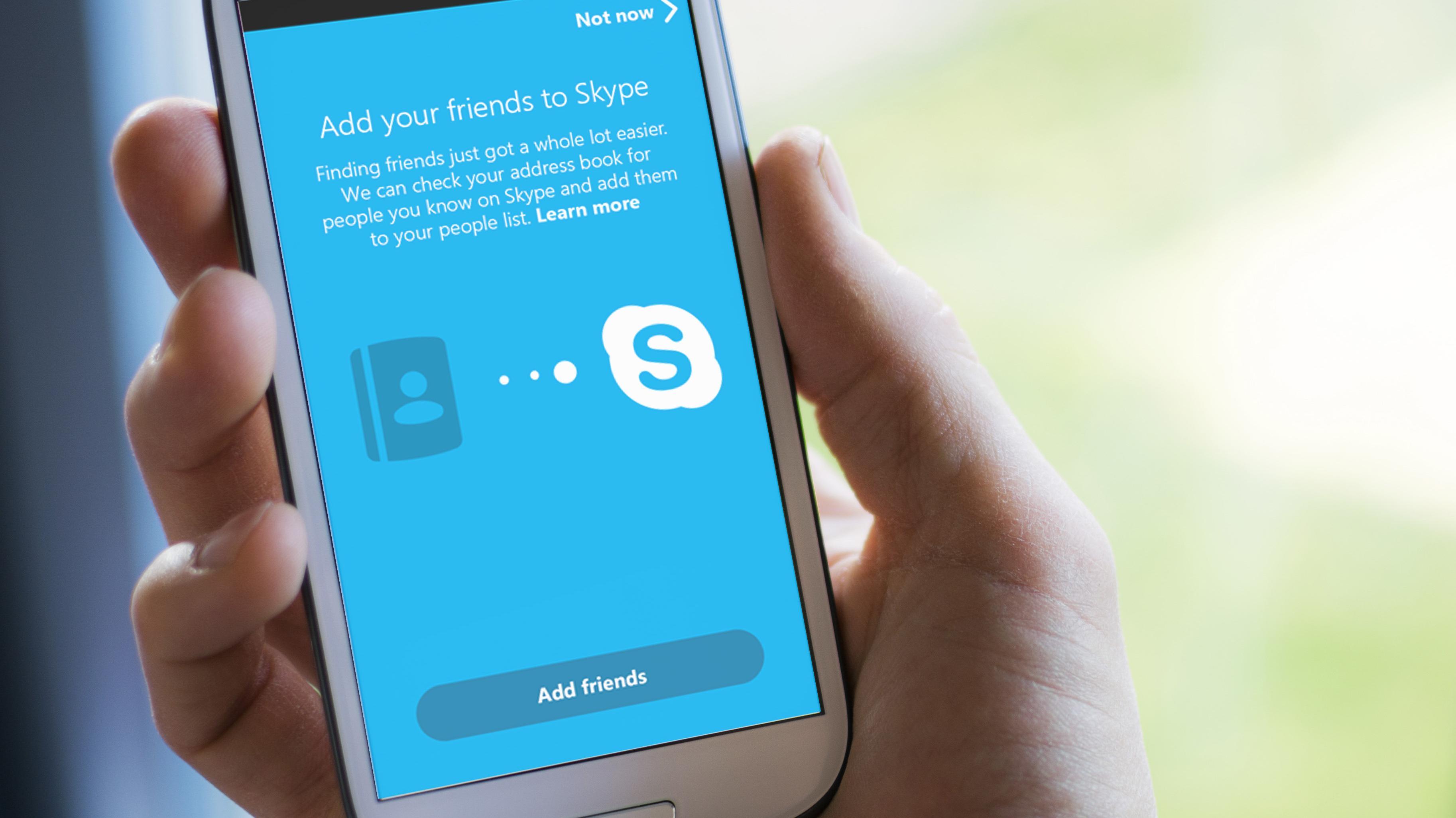 Ny Skype for Android finner vennene dine automatisk