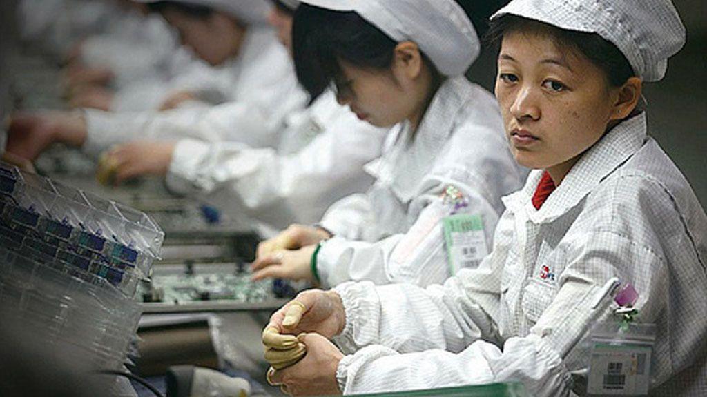 Kinesisk arbeidskraft er billig for Apple.
